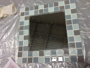 Clean Finished Tiled Mirror