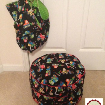Kids Pouf and Toy Sack set (2)