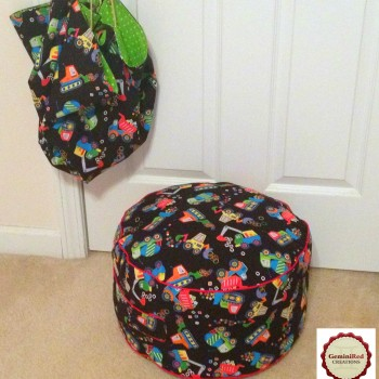 Kids Pouf and Toy Sack set (3)
