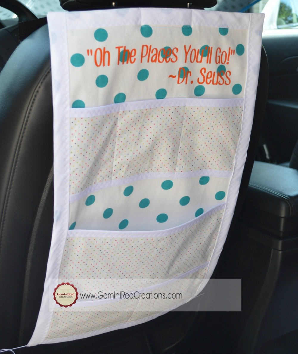 Christmas Car Seat Organizer With Coloring Books