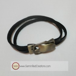 Leather Buckle Bracelet (3)
