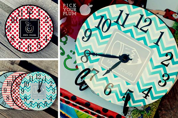 Pick Your Plum Tick Tock It S A Clock Geminired Creations