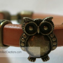 Leather Owl Triple Slide bracelet (5)