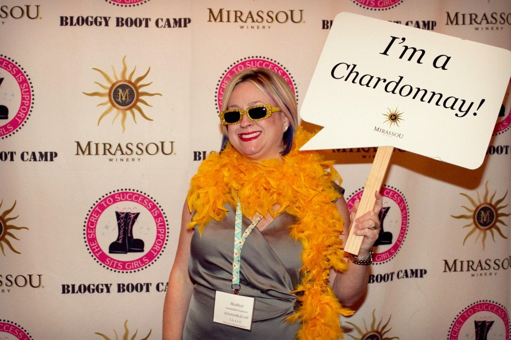 Bloggy Boot Camp wine party
