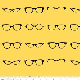 Riley Blake Geekly Glasses Yellow