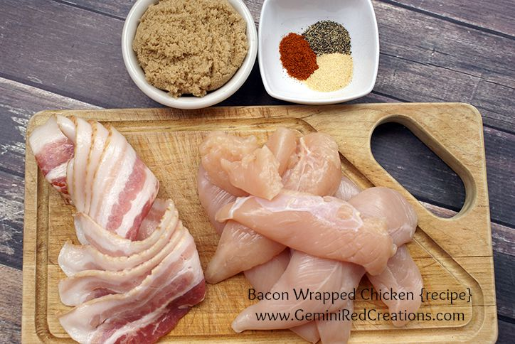 Bacon Wrapped Chicken ingredients v2