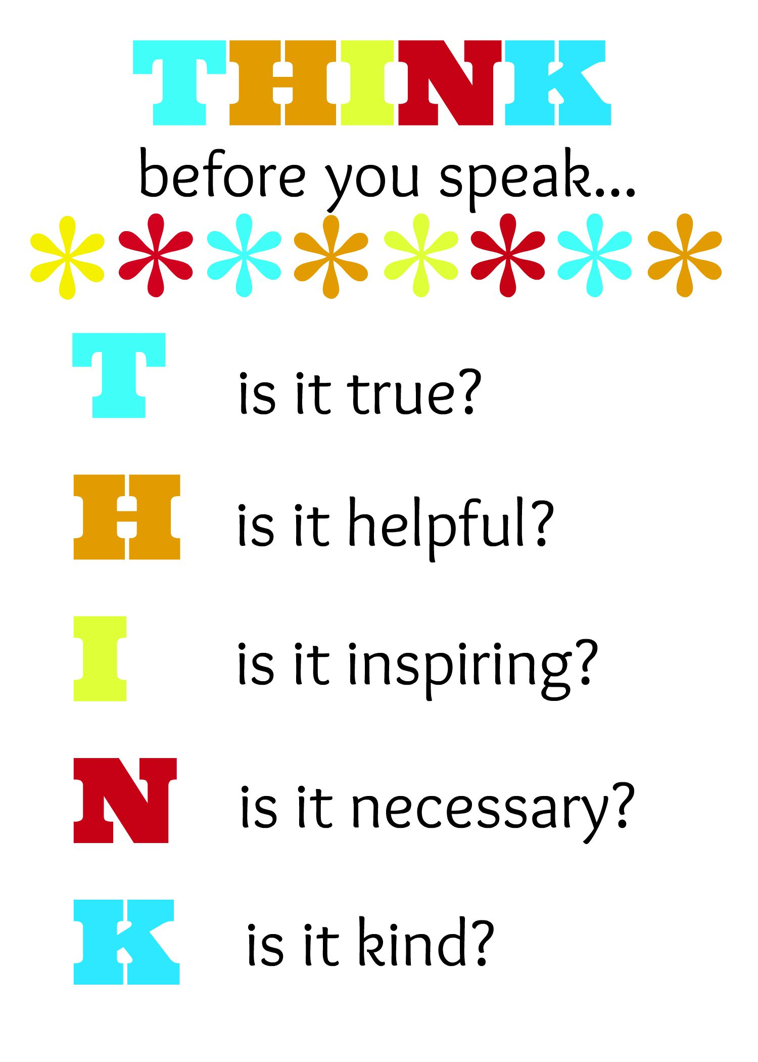 the importance of thinking before speaking our mind on social media Nervous about using social media in your school here's a guide on creating   more ideas think before you speak printable posters - teach junkie.
