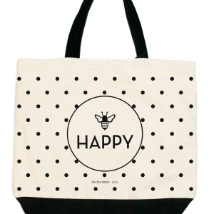 Bee Happy Dots Shopper Tote