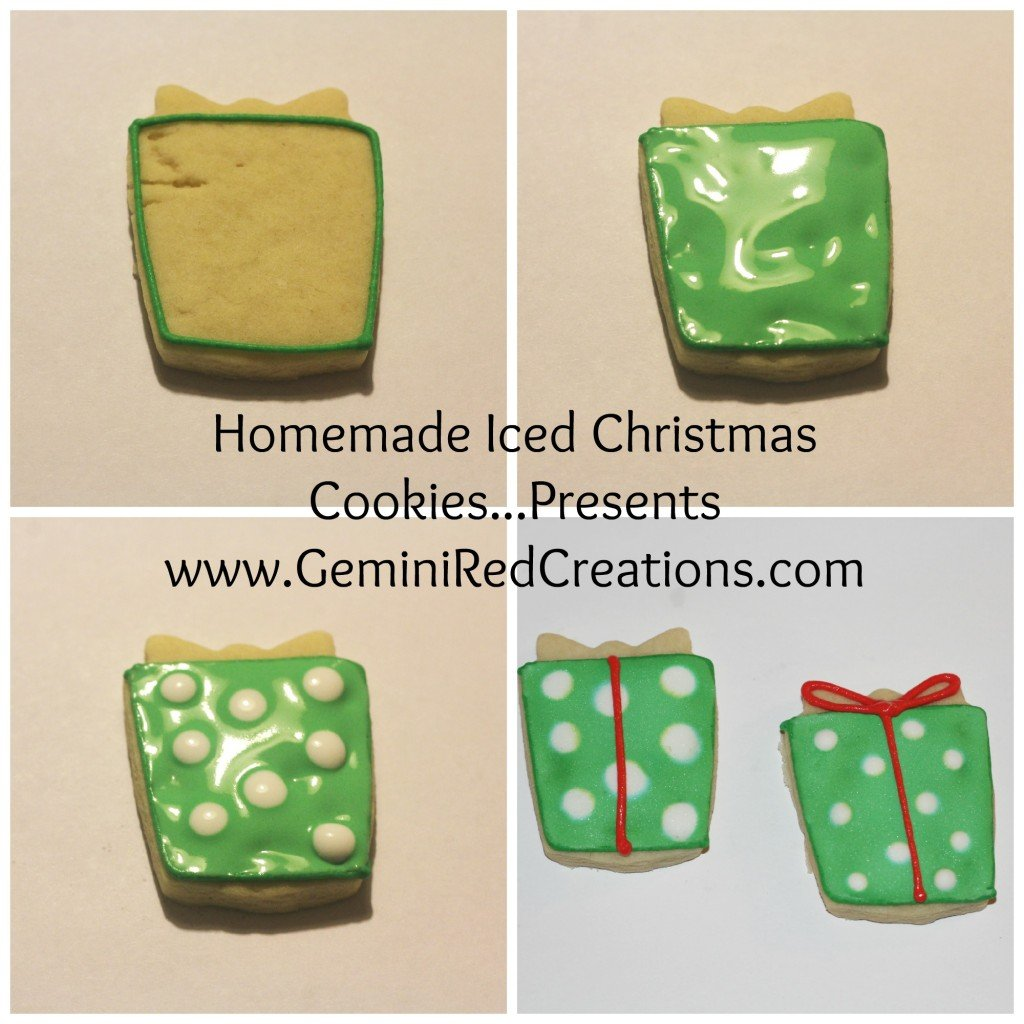 Iced Christmas Cookies - Presents (3)