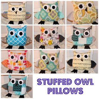 Stuffed Owls Collage
