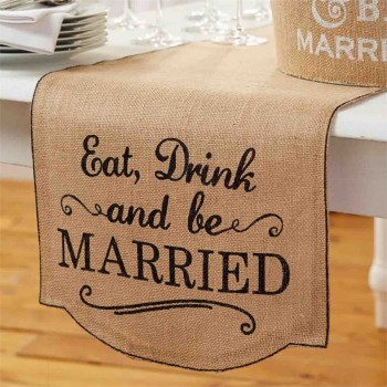 Eat Drink and be Married Table Runner