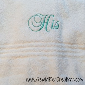 His and Hers towels (2)