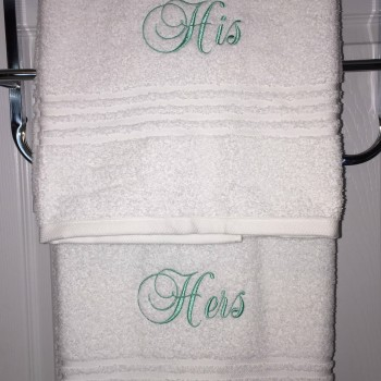 His and Hers towels (4)