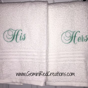 His and Hers towels (5)