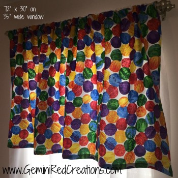 Hungry Caterpillar valance