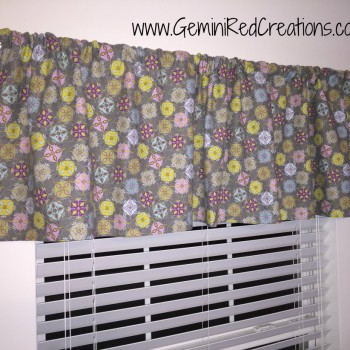 Sewing room valance
