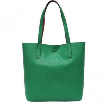 Tote bag - green-pink