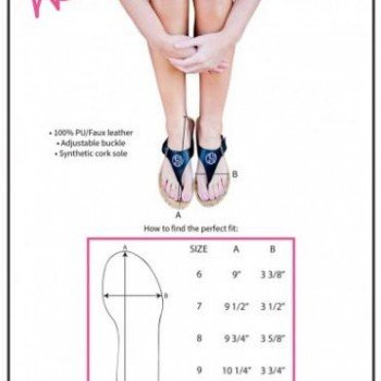 Natalie Sandals size guide