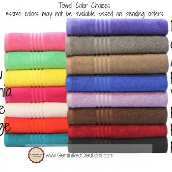Towel Color Choices - Mainstays
