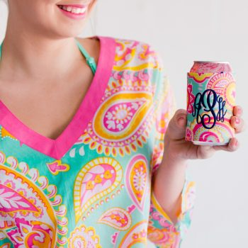 Can Cooler Summer Paisley