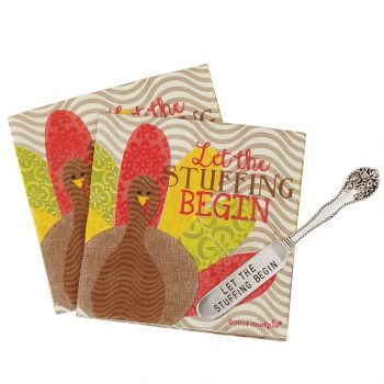 Stuffing Napkin Set with Butter or Cheese Spreader