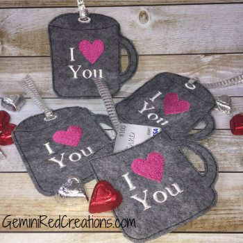 Coffee Mug Custom Gift Card Holder