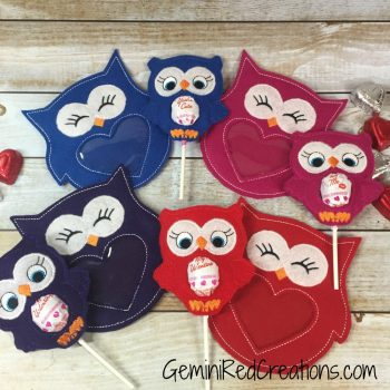 Owl candy and sucker covers (2)
