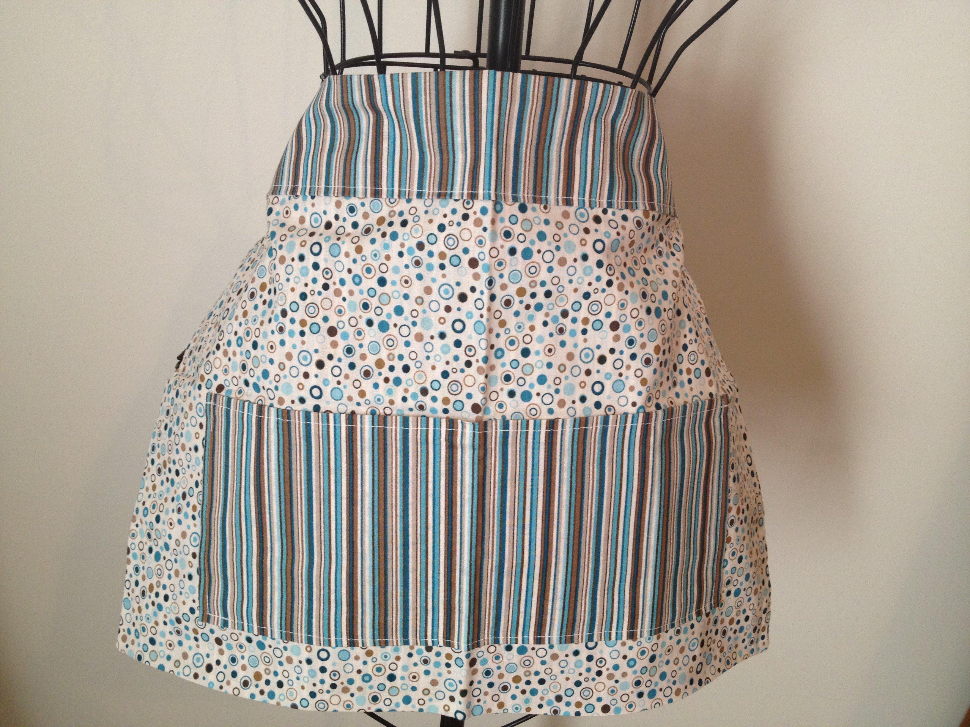 Circles & Stripes apron – love it!