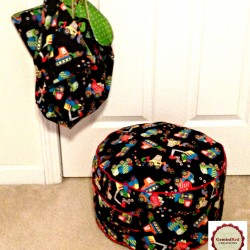 Kids Pouf and Toy Sack set (1)