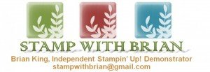 Stampin Up with Brian - website header