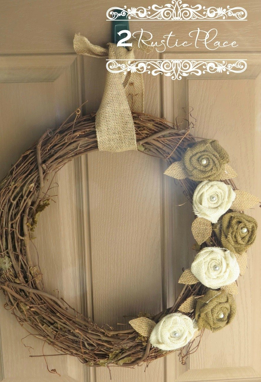Burlap Flower Wreaths {DIY project}