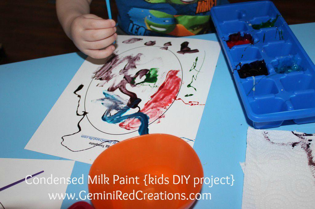 Condensed Milk Paint {kids DIY project}