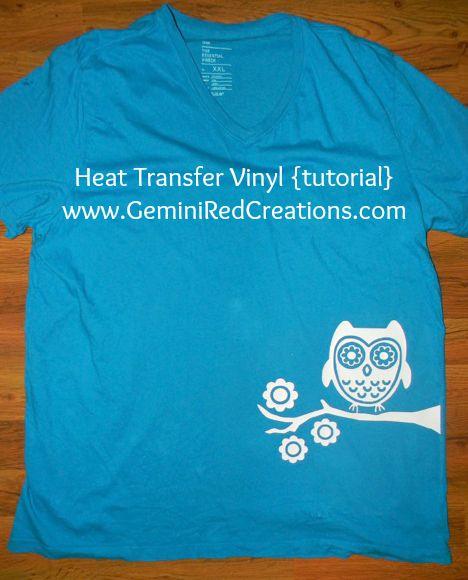 Heat Transfer Vinyl {tutorial}