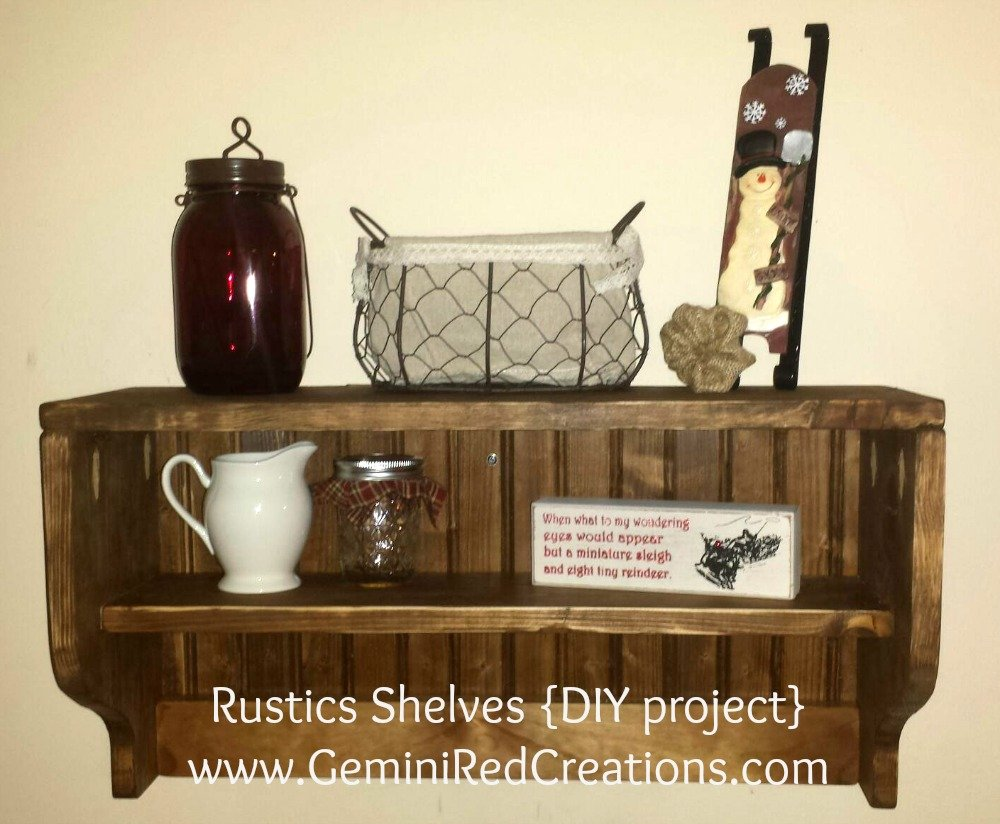 Rustic Shelves Geminired Creations