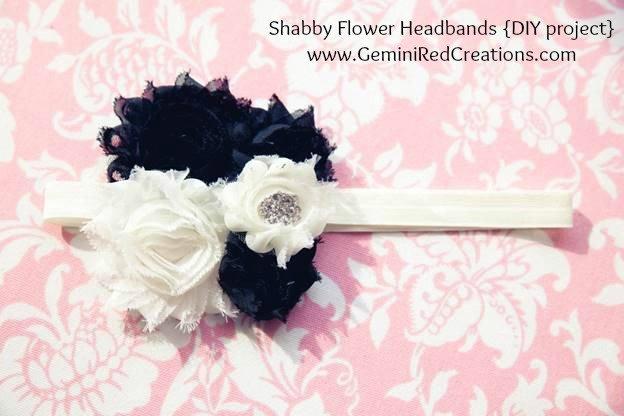 Shabby Flower Headbands {DIY project}