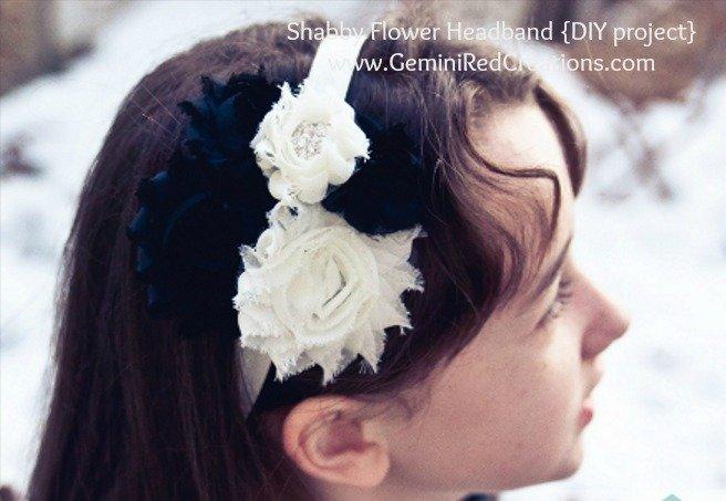 Shabby Flower Headband (13)