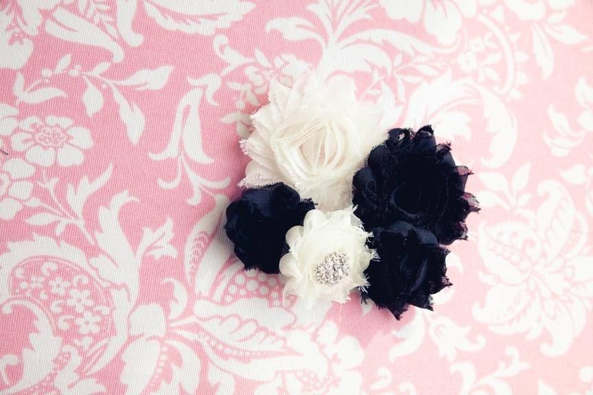 Shabby Flower Headband (5)