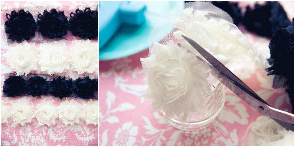 Shabby Flower Headband step 1