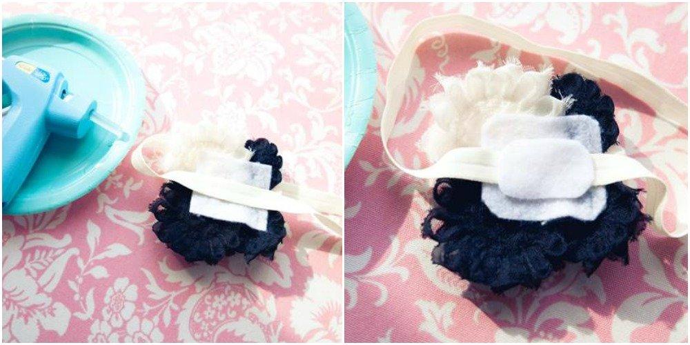 Shabby Flower Headband step 6