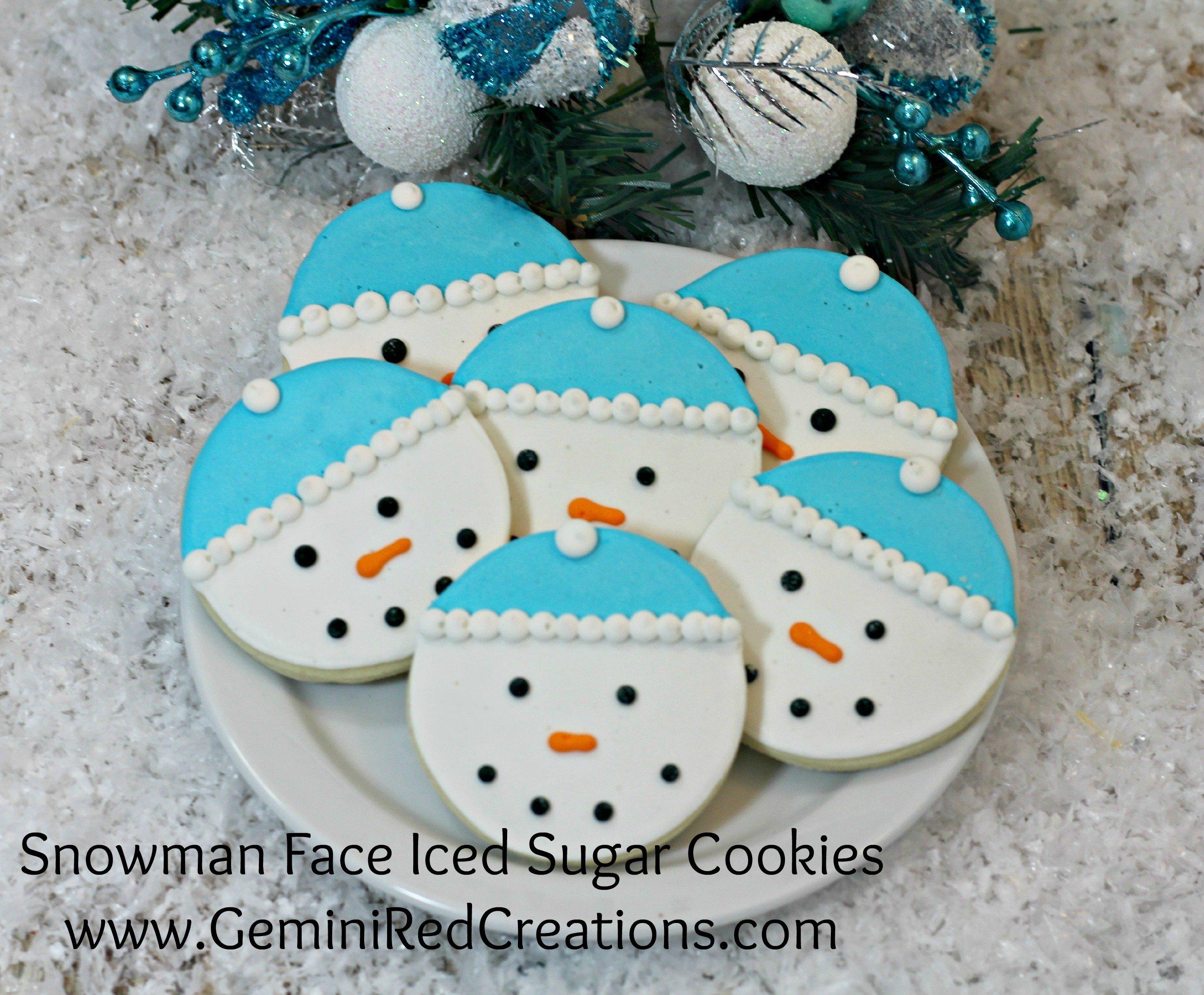 Snowman face ornament - Snowman Face Iced Sugar Cookies 1