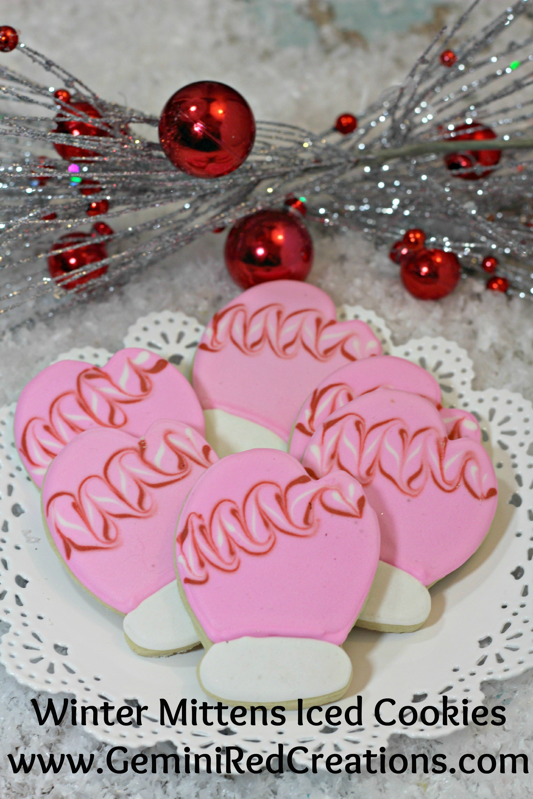 Winter Mittens Iced Cookies