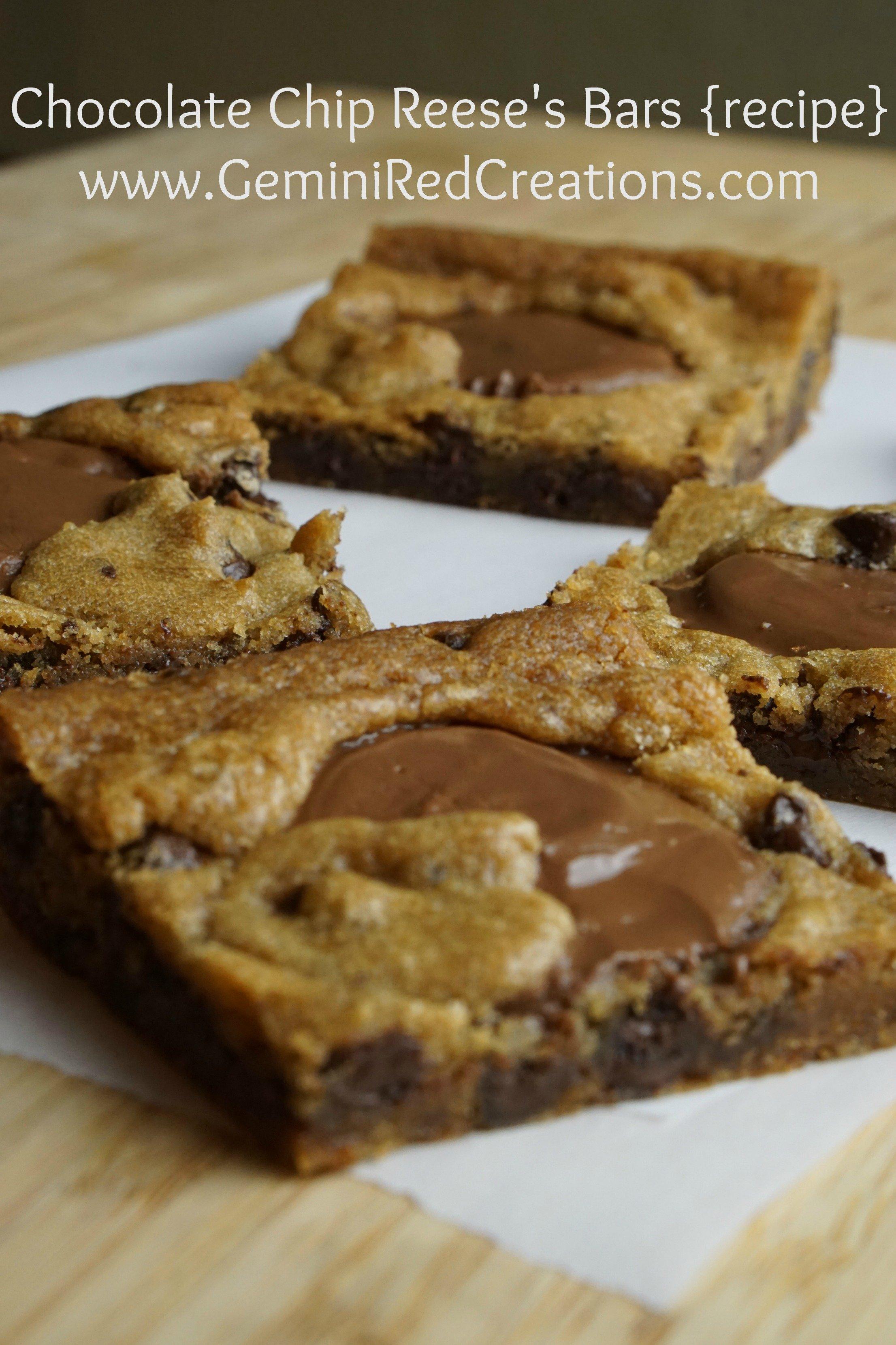 Chocolate Chip Reese S Bars Recipe Geminired Creations