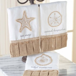 Burlap Shell Linen Towels