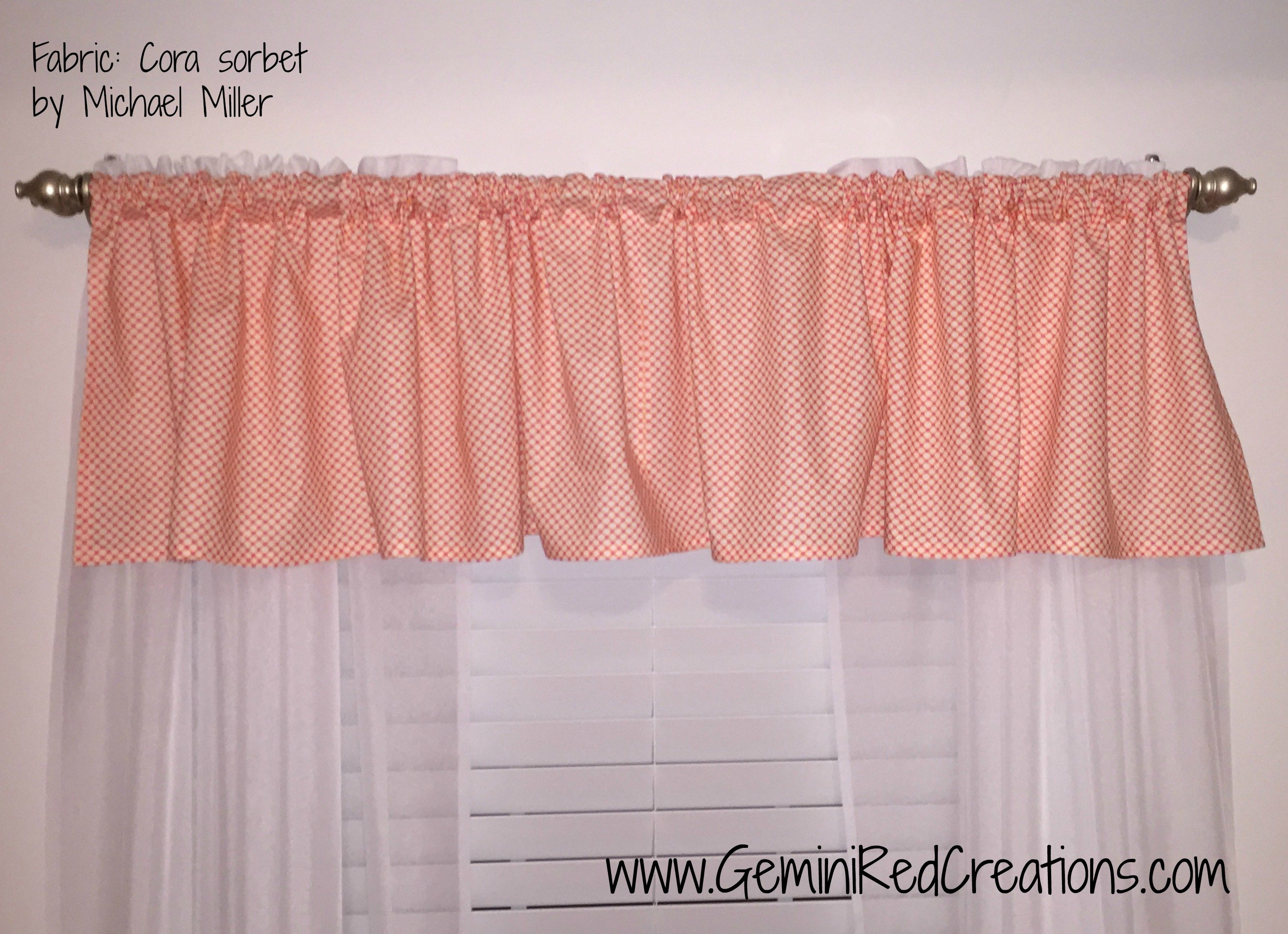 colored unlined cornice patterned valance valances windows ayers style fiesta for orange solid