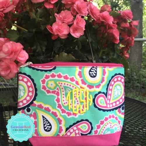 Paisley Cosmetic Bag {monogrammed}