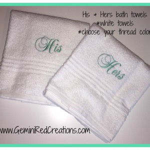 His and Hers towels (3)