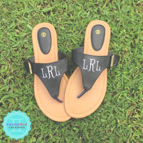 Monogrammed Sandals