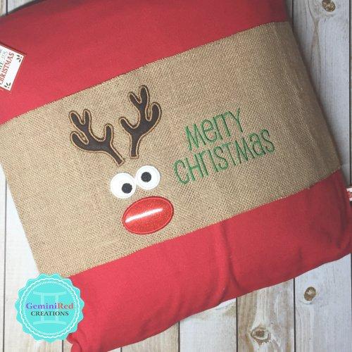 Burlap Pillow Wraps Custom Embroidered