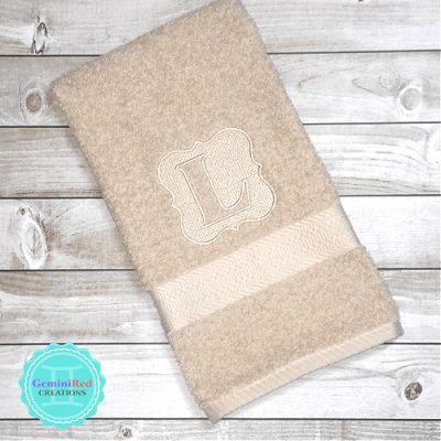 Embossed Embroidered Hand and Bath Towels