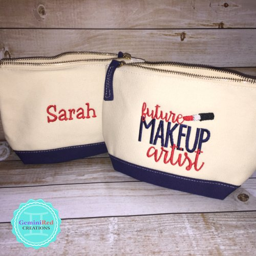 Future Makeup Artist Canvas Cosmetic Bag